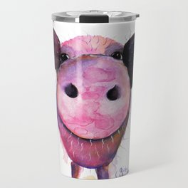 Nosey Pig ' Pigs CAN Fly ' by Shirley MacArthur Travel Mug
