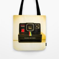 polaroid Tote Bags featuring Polaroid by Sydney S Photography