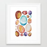 eggs Framed Art Prints featuring Eggs by Sushibird