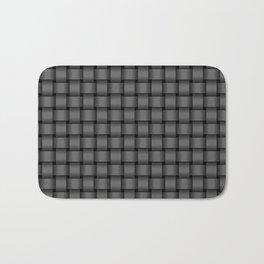 Small Dark Gray Weave Bath Mat