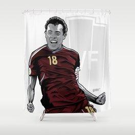 Juan Arango Vinotinto - Trinchera Creativa Shower Curtain