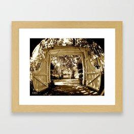 Garden Gate Framed Art Print