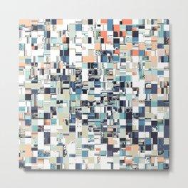 Abstract Jumbled Mosaic Metal Print
