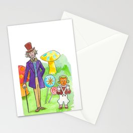 Pure Imagination: Willy Wonka & Oompa Loompa by Michael Richey White Stationery Cards