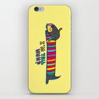 dachshund iPhone & iPod Skins featuring Dachshund by PINT GRAPHICS