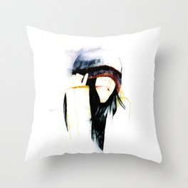 True happiness comes from heart  Throw Pillow
