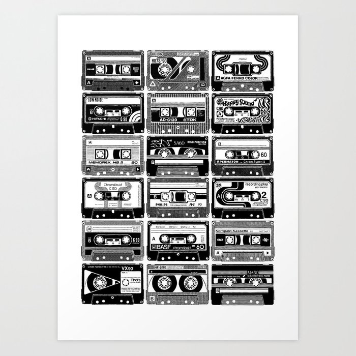 Mix Tapes Art Print