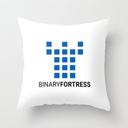 Binary Fortress Software (blue logo) Throw Pillow
