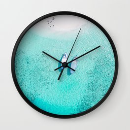 boats on the beach Wall Clock