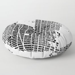 New York building city map Floor Pillow