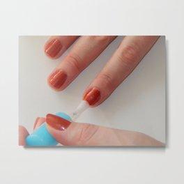 Manicure nail polish, color and polish nails Metal Print