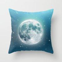 luna Throw Pillows featuring Luna by Good Sense