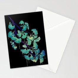 O Ginkgo (on Black) Stationery Cards