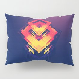 Mystic Magic Neon Color Right Angle Digital Art Pattern UHD Pillow Sham
