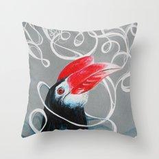 Hornbill Throw Pillow