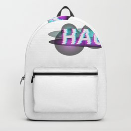 Hacked Word With Glitch Effect Backpack