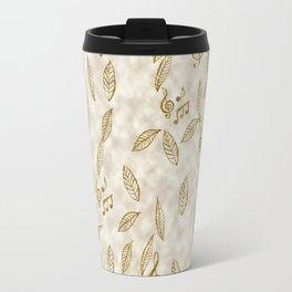 Abstract Gold Fall Foliage Symphony Travel Mug