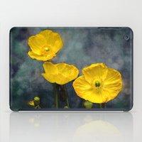 iceland iPad Cases featuring  Iceland poppy  by LudaNayvelt