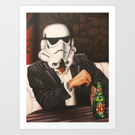 The Most Interesting Trooper in the Galaxy Art Print