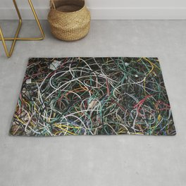 Wires.  Rug