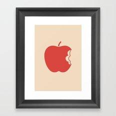 Apple 30 Framed Art Print