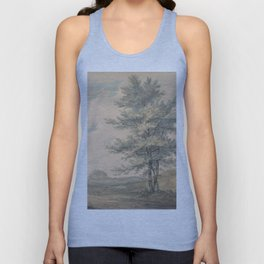 "J.M.W. Turner ""Landscape with Trees and Figures"" Unisex Tank Top"