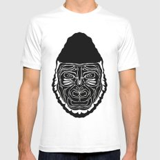 Gorilla Mens Fitted Tee White MEDIUM