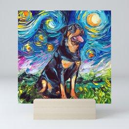 Rottweiler Night 2 Mini Art Print