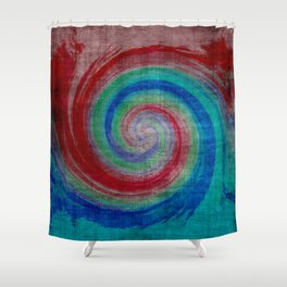 Colored Wave Shower Curtain