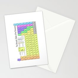 The Periodic Table of Eements Stationery Cards