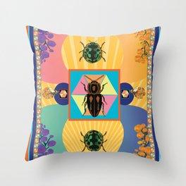 Embryonic Beetle Roach Milk Throw Pillow