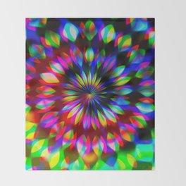 Psychedelic Rainbow Swirl Throw Blanket
