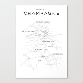 Champagne map Canvas Print