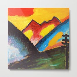 'Loneliness,' A Sunset Mountain Landscape by Alexej von Jawlensky Metal Print