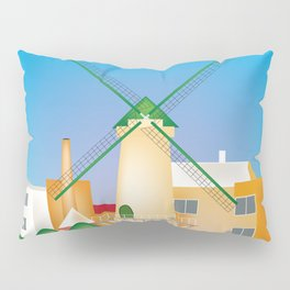 Rotterdam, Holland - Skyline Illustration by Loose Petals Pillow Sham