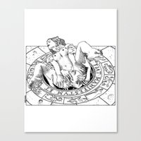 apollonia Canvas Prints featuring asc 487 - L'invocation (The summoning) by From Apollonia with Love