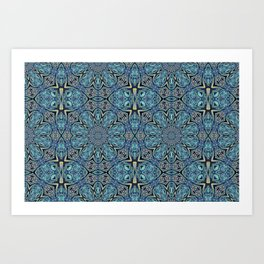 Blue Flower Pattern Art Print