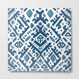 Ikat ornament. Tribal pattern Metal Print