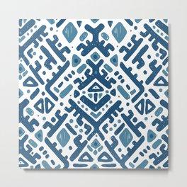 Ikat ornament. Tribal pattern Metal Print