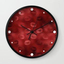 Sexy Red Lip Pattern Wall Clock