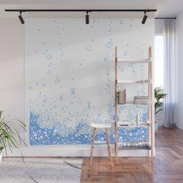 Floating Foam - a handmade pattern Wall Mural