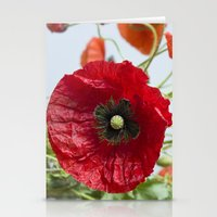 poppy Stationery Cards featuring Poppy by Maria Heyens