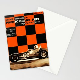 1961 Pacific Grand Prix Stationery Cards