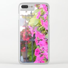 Floral Divisions Clear iPhone Case