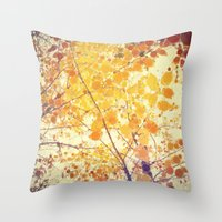 be happy Throw Pillows featuring Happy by Olivia Joy StClaire