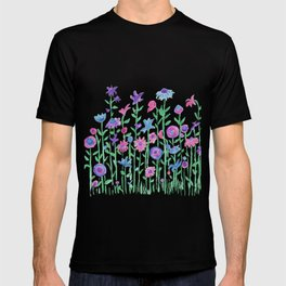 Cheerful spring flowers watercolor T-shirt