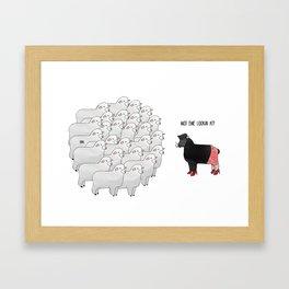 Wot ewe looking at? Framed Art Print