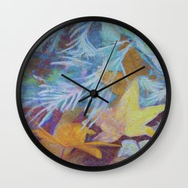 Fall Into Winter Wall Clock