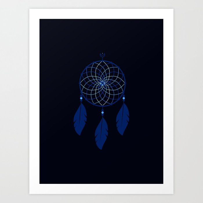 The Blue Dreamcatcher Kunstdrucke