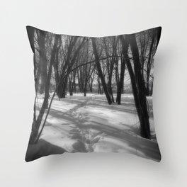 Deer Tracks Throw Pillow